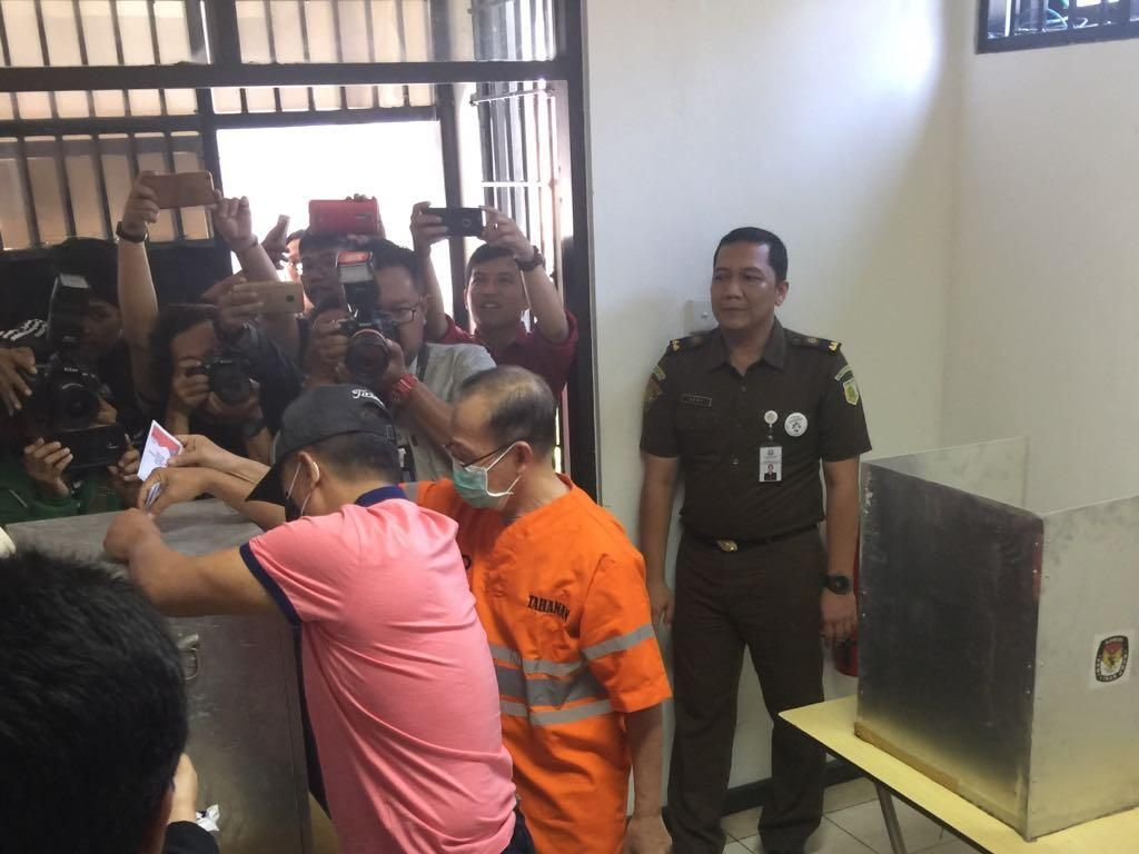 Calon Bupati Jombang Nyoblos di Tahanan Kejati Jatim