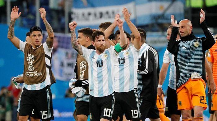 Lionel Messi saat beraksi di Piala Dunia 2018 (Jorge Silva/Reuters)