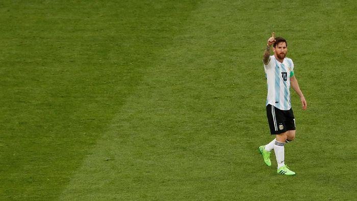 Lionel Messi merayakan gol Argentina ke gawang Nigeria. (Foto: Lee Smith/Reuters)