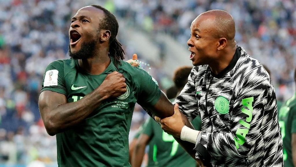 Video: Penalti Moses Buat Nigeria 1-1 Argentina