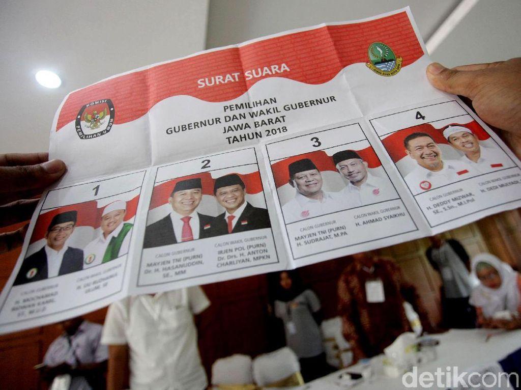 Real Count KPU Sementara: Ridwan Kamil-Uu Unggul 33,10 Persen