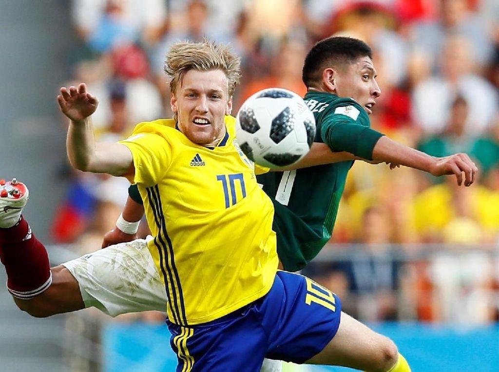 Babak I : Meksiko vs Swedia Masih Imbang