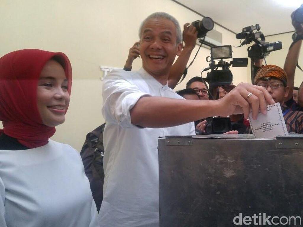 Video: Ganjar Minta Maaf ke Sudirman & Ida Usai Nyoblos