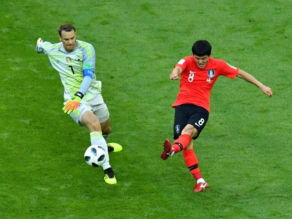 Momen Neuer Kehilangan Bola yang Berujung Gol Kedua Korsel