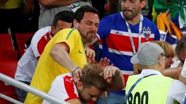 Ribut-ribut Suporter di Laga Serbia Kontra Brasil