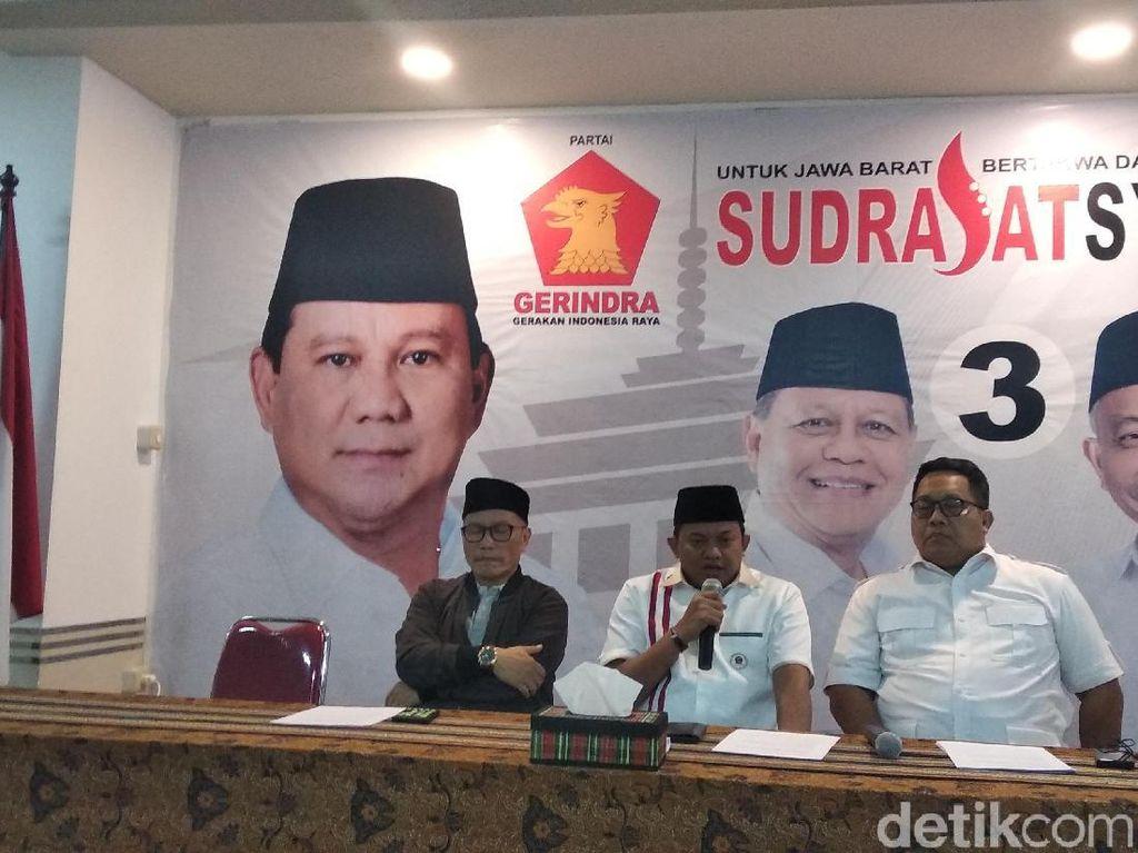 Quick Count Gerindra: Sudrajat Ungguli Ridwan Kamil