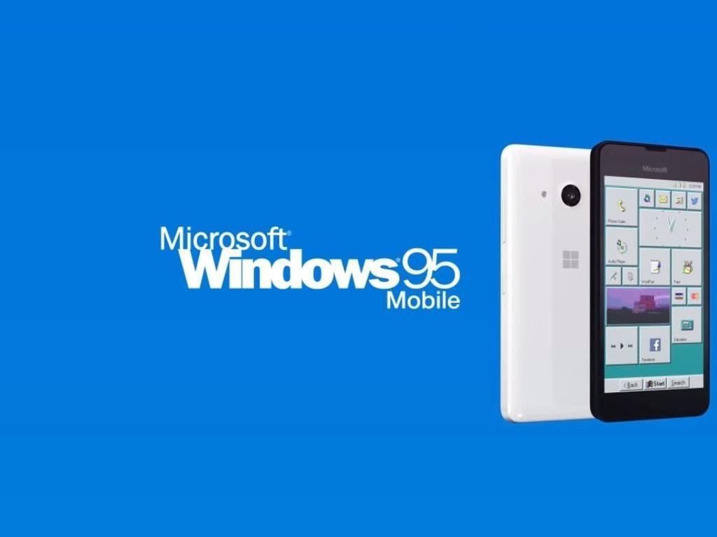 Tampilan Smartphone Microsoft yang Pakai Windows 95