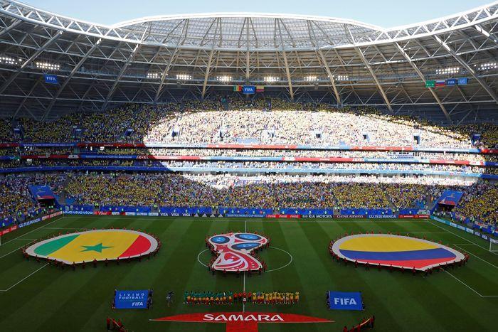 Pertandingan Senegal melawan Kolombia digelar di Samara Arena, Kamis (28/6/2018). Reuters/David Gray.