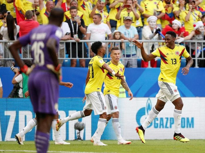 Kolombia mengalahkan Senegal 1-0 untuk lolos ke babak 16 besar Piala Dunia 2018. (Foto: Max Rossi/Reuters)