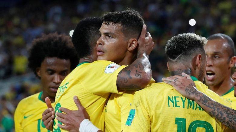 Brasil Menderita dalam Kemenangan atas Serbia