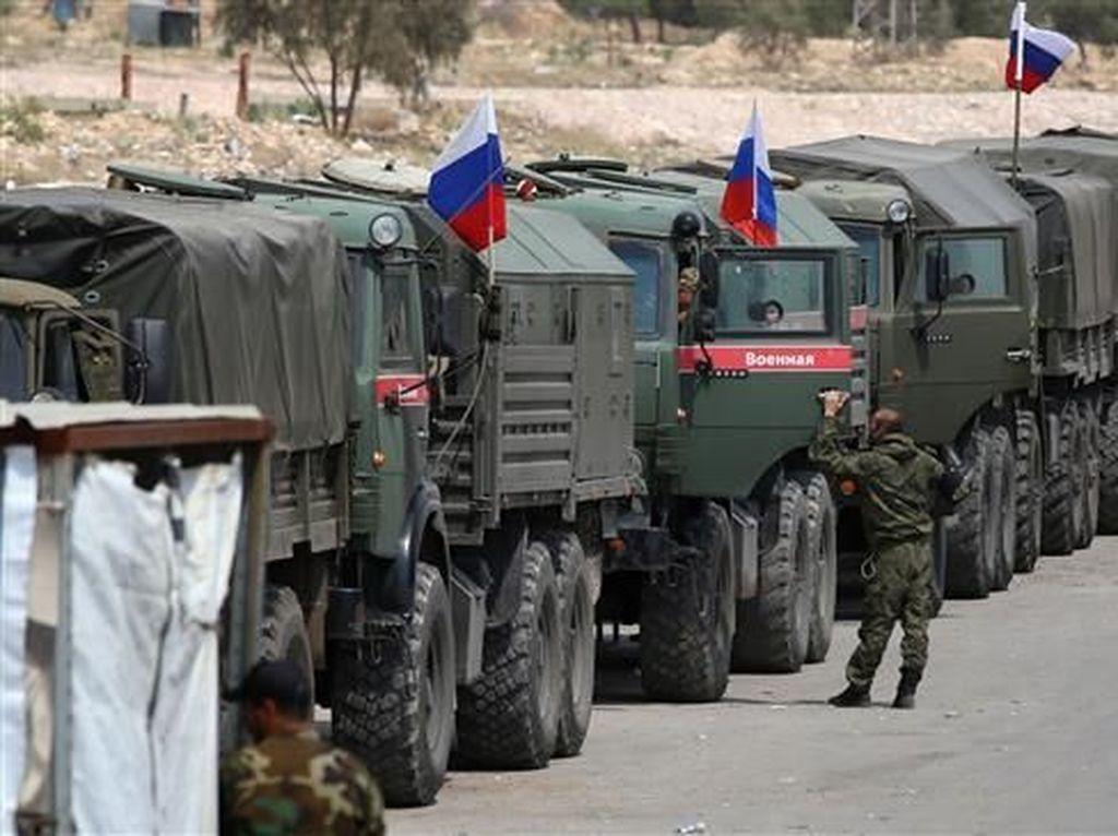 Iring-iringan Militer Rusia Masuk Wilayah Nagorno-Karabakh