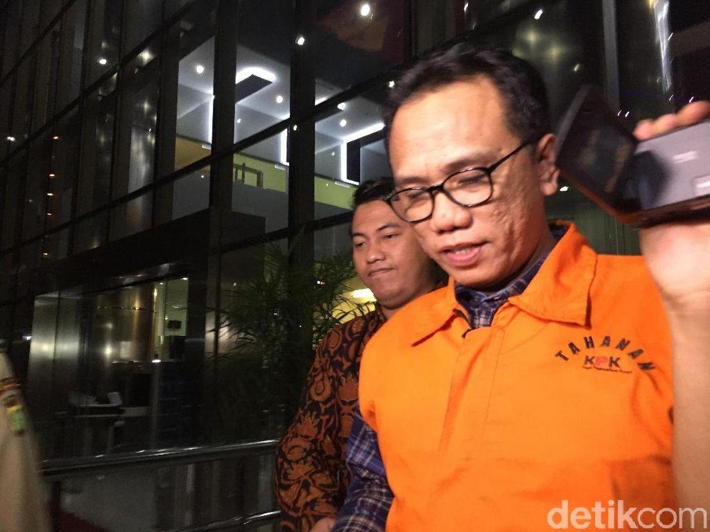 KPK Tahan Anggota DPR Tersangka Penerima Suap Gatot Pujo