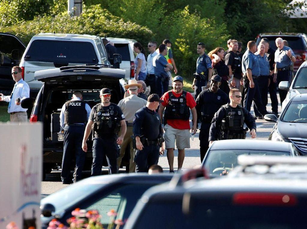 Foto: Situasi Usai Penembakan Brutal di AS yang Tewaskan 5 Orang
