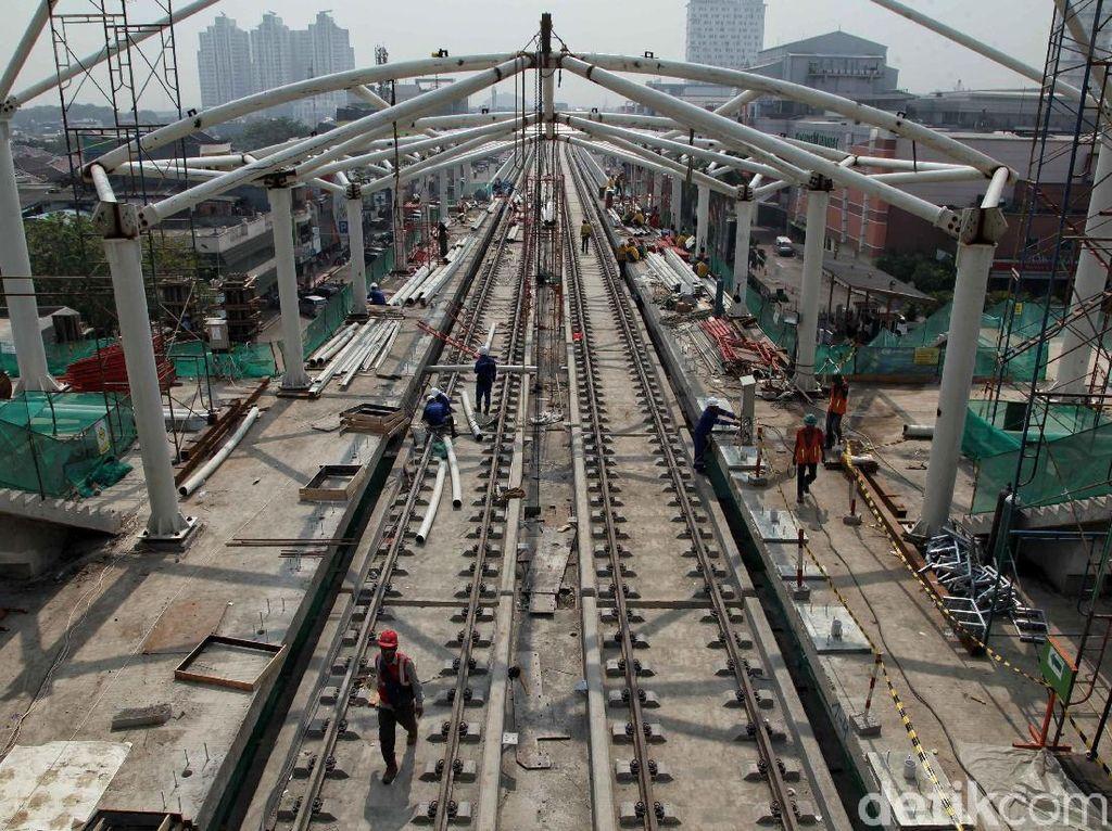 Penampakan Terkini Stasiun LRT Mal Kelapa Gading