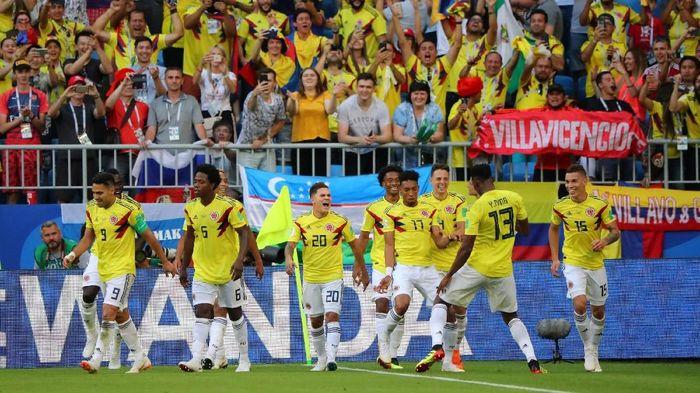 Kolombia akan menghadapi Inggris di babak 16 besar Piala Dunia 2018 (Foto: Marcos Brindicci/Reuters)