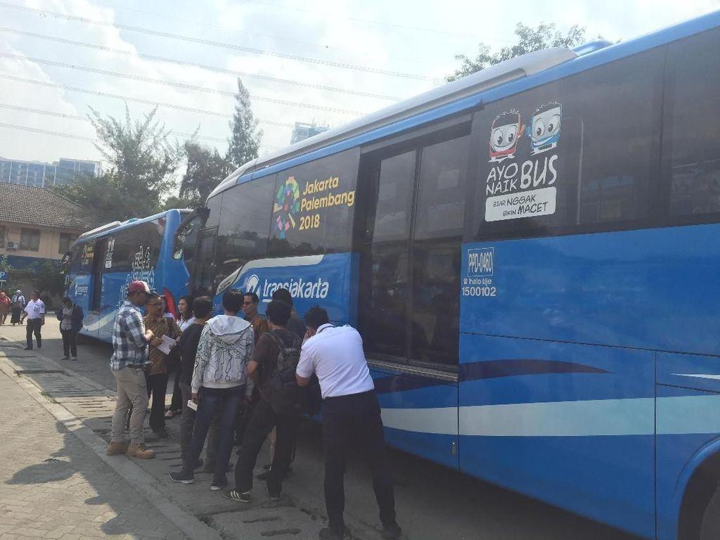 Perum PPD Sediakan Bus Khusus Angkut Penumpang Asian Games