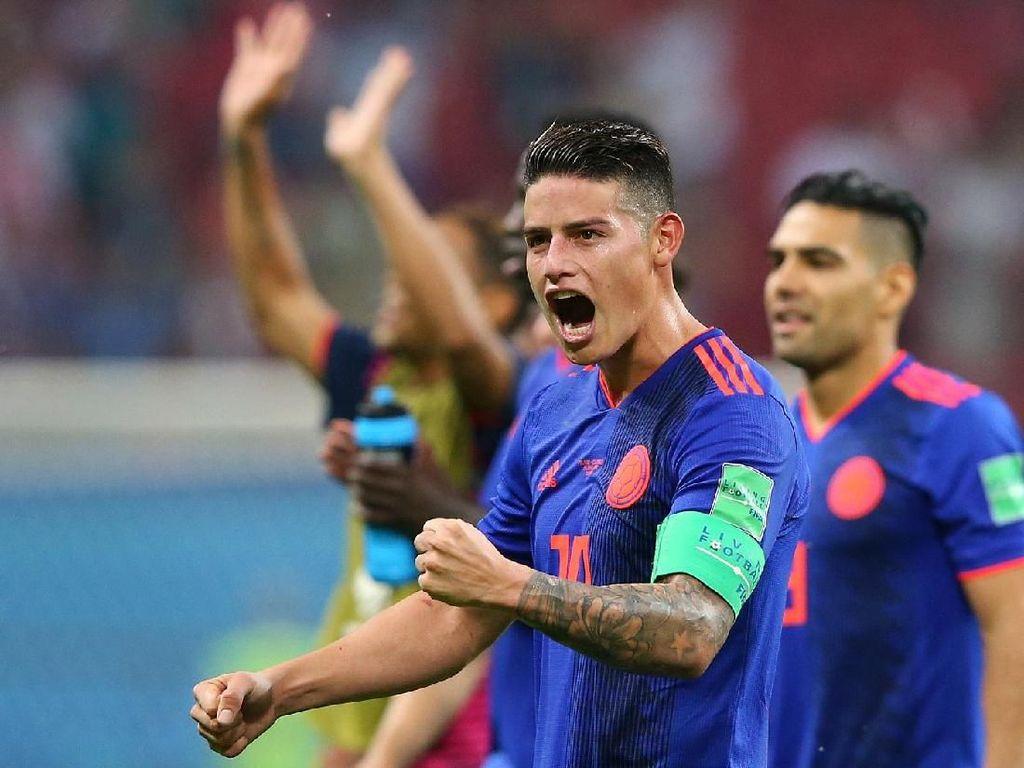 Kolombia Harap-harap Cemas Tunggu Kepastian Cedera James Rodriguez