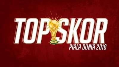 Top Skor Piala Dunia 2018 di Babak Grup dalam Infografis