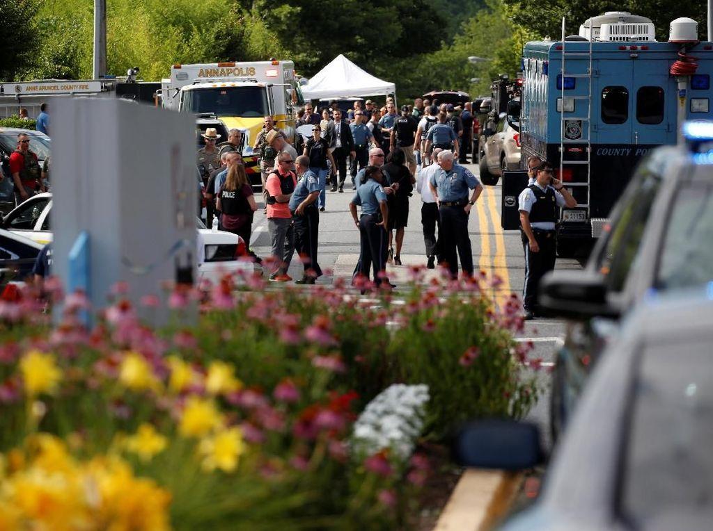 Penembakan di Kantor Koran AS Tewaskan 5 Orang, Pelaku Ditangkap