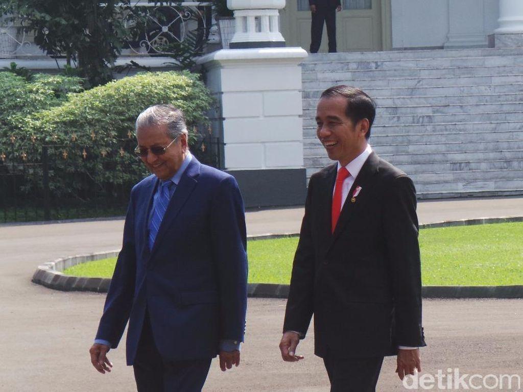 Kebersamaan Jokowi-Mahathir: Akrab Berbincang hingga Tanam Pohon