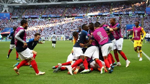 Seru! Prancis Kalahkan Argentina 4-3
