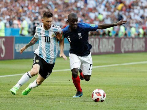 N'Golo Kante mematikan Lionel Messi saat Prancis bertemu Argentina di babak 16 besar Piala Dunia 2018