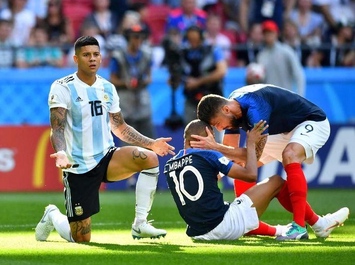 Salah satu laga babak 16 besar Piala Dunia 2016 antara Prancis vs Argentina. (Foto: Reuters)