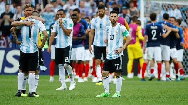 Lionel Messi hanya mencetak satu gol di Piala Dunia 2018.
