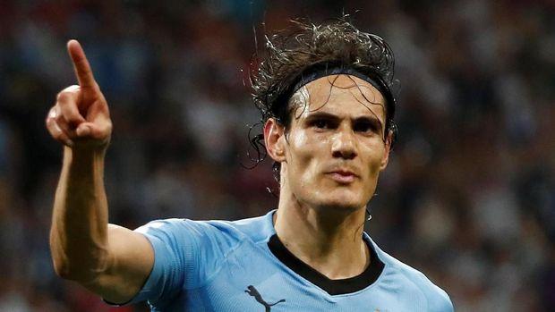 Edinson Cavani mencetak dua gol saat Uruguay mengalahkan Portugal.