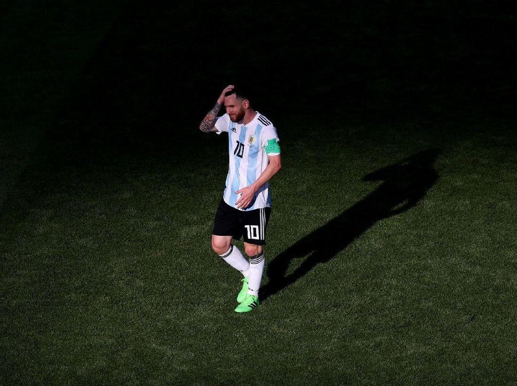 Argentina Tersingkir, Aguero: Messi yang Paling Terluka