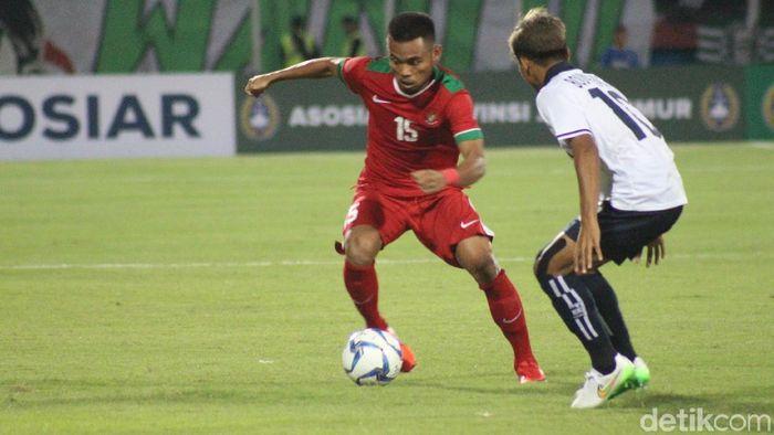 Timnas Indonesia U-19 menang 1-0 atas Laos di laga perdana Piala AFF U-19 2018. (Foto: Suparno)