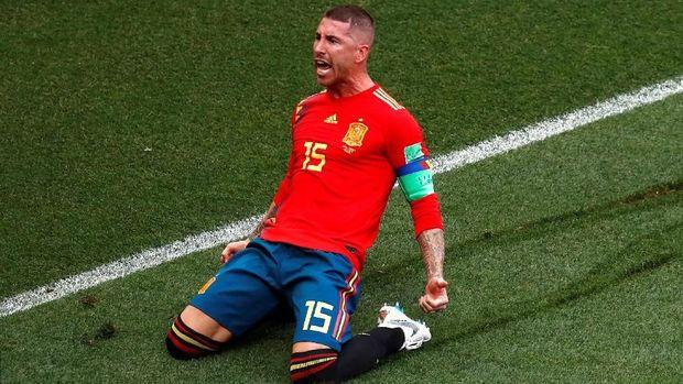 Sergio Ramos tercatat memiliki operan sukses tertinggi di Piala Dunia 2018.