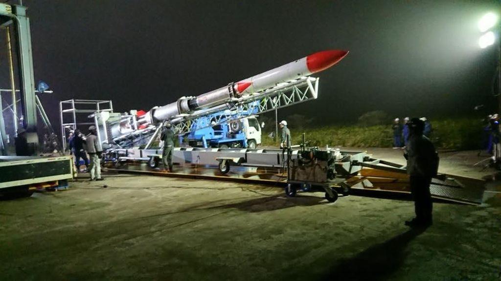Detik-detik Meledaknya Roket Milik Jepang