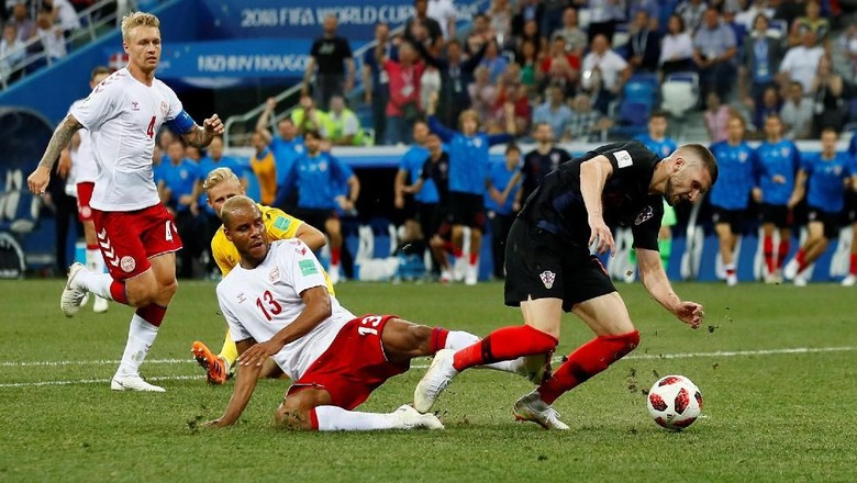 Modric Gagal Penalti, Kroasia vs Denmark Lanjut ke Babak Tos-Tosan
