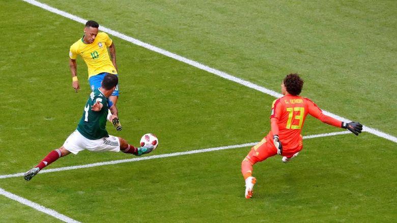 Brasil Berimbang Tanpa Gol dengan Meksiko di Babak Pertama