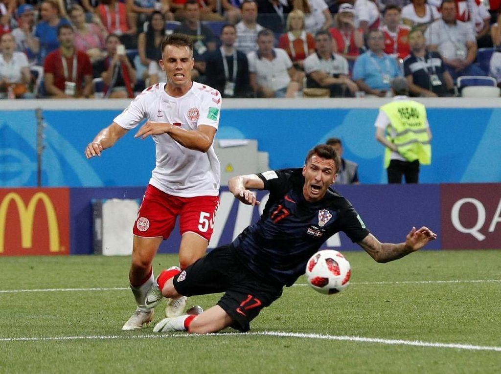 Kroasia vs Denmark Berimbang 1-1 di Babak Pertama