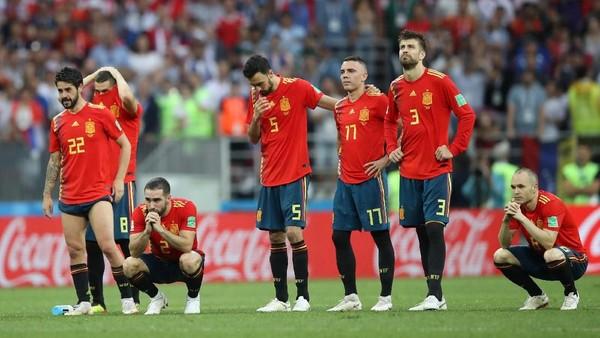 Lagi, Spanyol Tersingkir dari Piala Dunia meski Tak Pernah Kalah