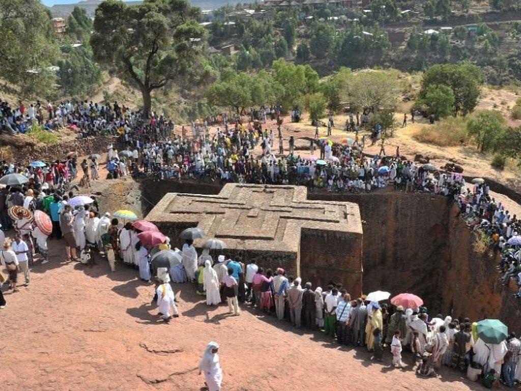 Foto: Gereja Paling Unik di Ethiopia dan Mungkin Dunia
