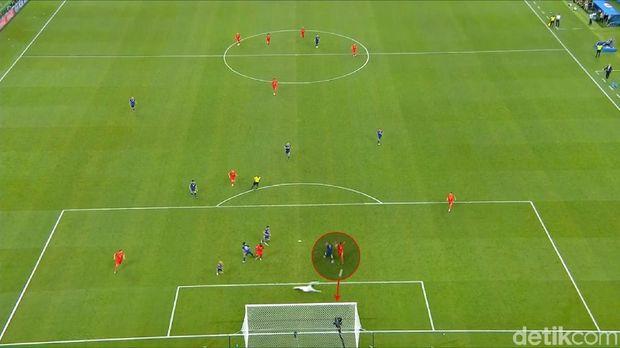 Nacer Chadli mencetak gol penentu kemenangan Belgia