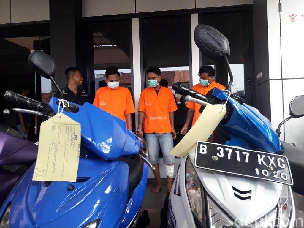 34 Kali Beraksi, Komplotan Curanmor di Bekasi Ditangkap Polisi