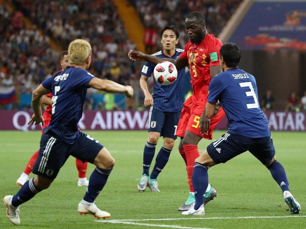 Babak I: Belgia vs Jepang 0-0