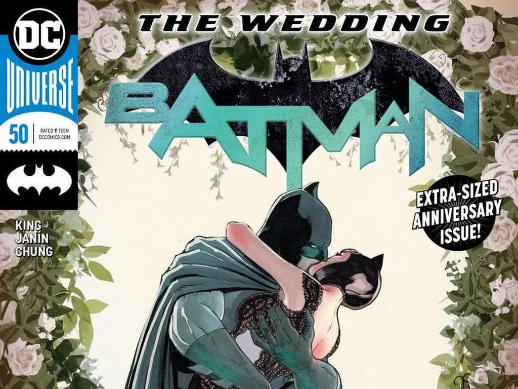 20 Ilustrasi Unik di Terbitan Spesial Komik Batman #50