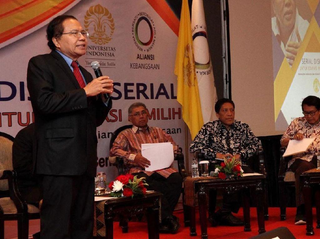 Rizal Ramli Hadiri Diskusi soal Utang