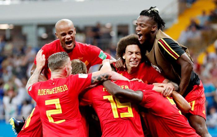 Kemenangan ini mengantarkan Belgia melaju ke babak perempatfinal untuk melawan Brasil. REUTERS/Toru Hanai.