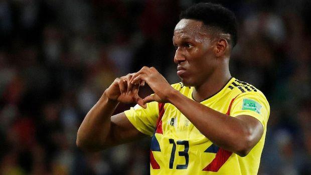 Yerry Mina tampil impresif bersama timnas Kolombia di Piala Dunia 2018.