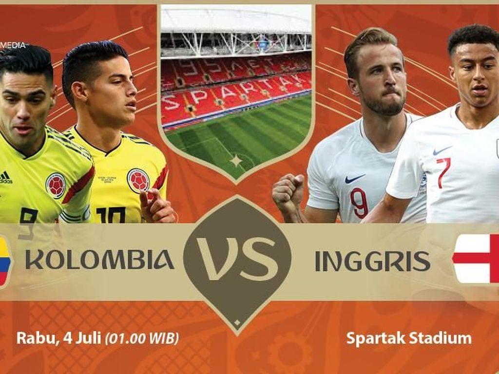 Live Report Piala Dunia 2018: Kolombia vs Inggris