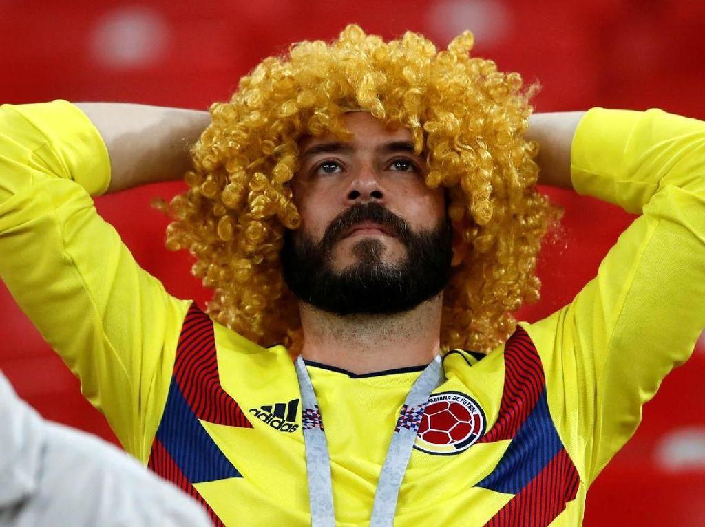 Ragam Ekspresi Kecewa Fans Kolombia: Tertunduk Lesu, Duduk Termangu