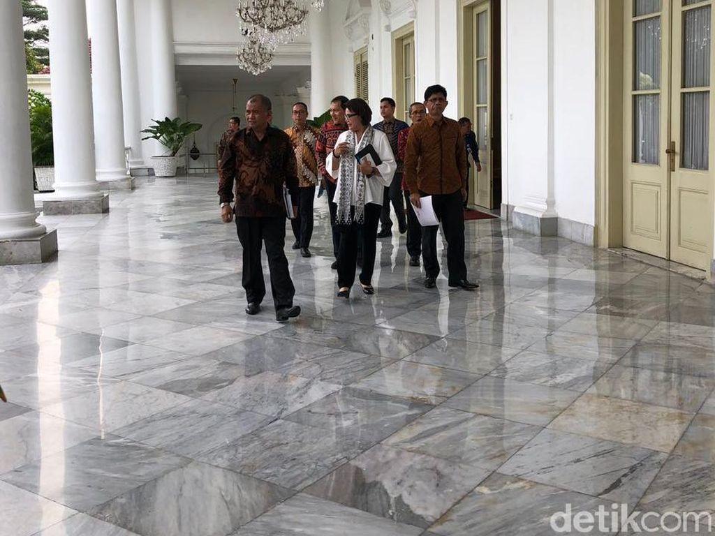Temui Jokowi, 5 Pimpinan KPK Tiba di Istana Bogor