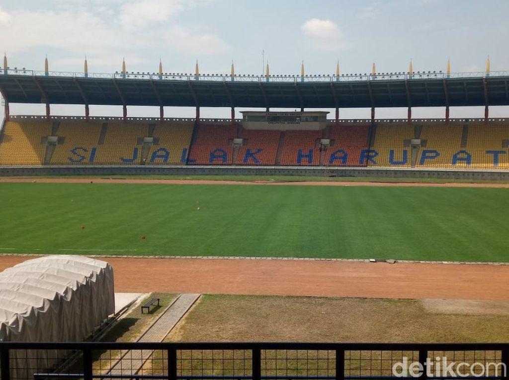 Proses Renovasi Stadion Si Jalak Harupat Sudah 95 Persen