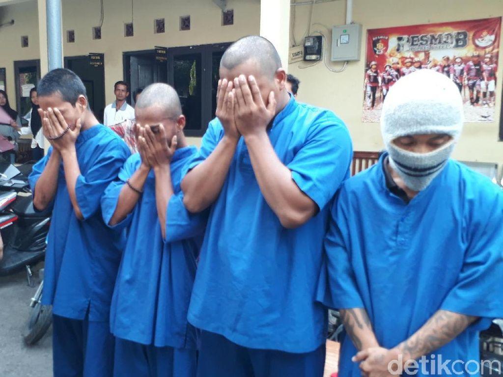 Polisi Bekuk 4 Orang Sekeluarga Pelaku Curanmor dari Brebes